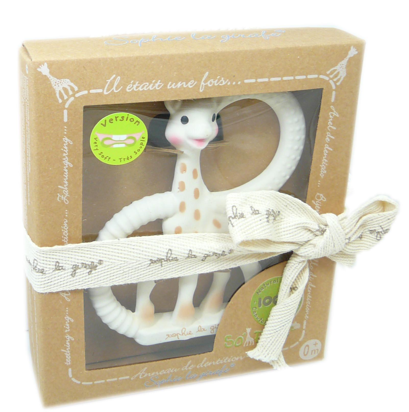 Sophie la girafe anneau de dentition sopure souple
