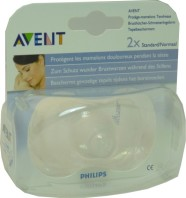 AVENT PROTEGE-MAMELONS SILICONE 2x STANDARD