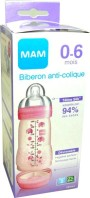 MAM BIBERON ROSE 0-6M 260ML