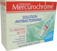 MERCUROCHROME SOLUTION ANTIBACTERIENNE 12*5ML