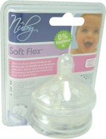 NUBY TETINES SOFTFLEX SLOW FLOW 0M+ X2