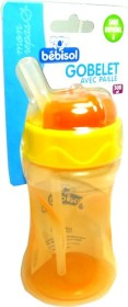 BEBISOL GOBELET AVEC PAILLE 300 ML ORANGE
