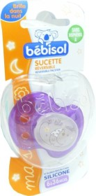 BEBISOL SUCETTE REVERSIBLE SILICONE 6-36 MOIS FILLE