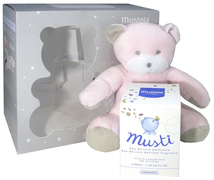 mustela coffret musti fille doudou parfum 2015. Black Bedroom Furniture Sets. Home Design Ideas