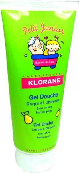 klorane petit junior gel douche corps et cheveux poire 200ml. Black Bedroom Furniture Sets. Home Design Ideas