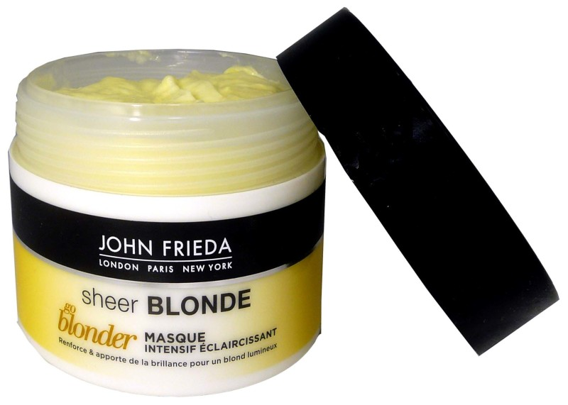 john frieda sheer blonde masque eclaircissant 250ml. Black Bedroom Furniture Sets. Home Design Ideas