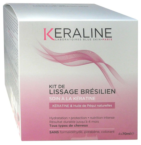 keraline kit de lissage bresilien soin keratine 4x70ml. Black Bedroom Furniture Sets. Home Design Ideas