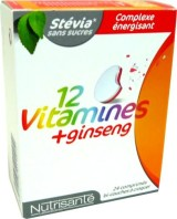 NUTRISANTE 12 VITAMINES + GINSENG 24 COMPS A CROQUER