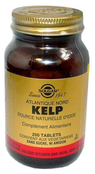 solgar kelp source naturelle d 39 iode 250 tablets. Black Bedroom Furniture Sets. Home Design Ideas