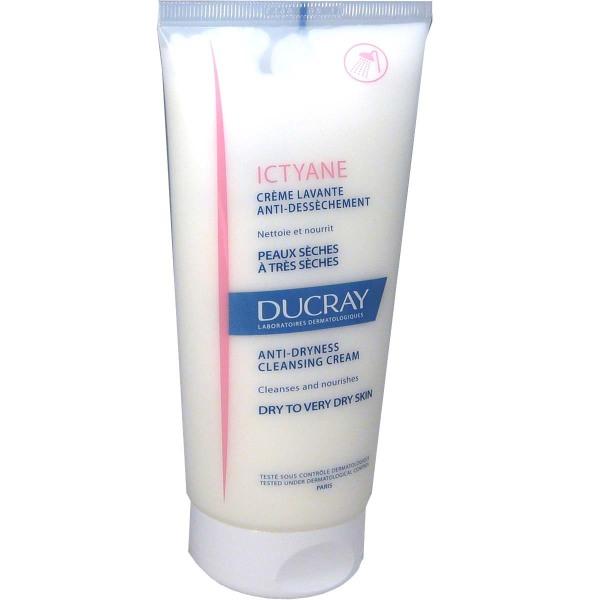 Ducray ictyane creme lavante anti dessechement peau seche 200ml - Gel douche pour peau tres seche ...