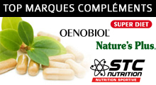 top marques complements alimentaires