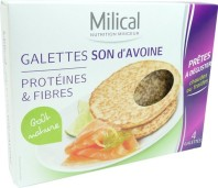 MILICAL GALETTES SON D'AVOINE X4