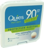 QUIES BOULES CIRE NATURELLE 8 PAIRES