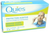 QUIES PROTECTION AUDITIVE SILICONE SOUPLE 1 PAIRE