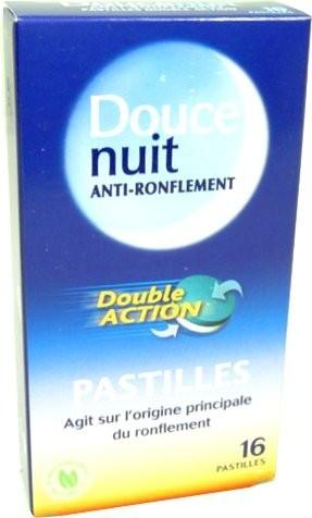 Douce nuit anti ronflement 16 pastilles double action anti ronflement - Douce nuit ronflement ...