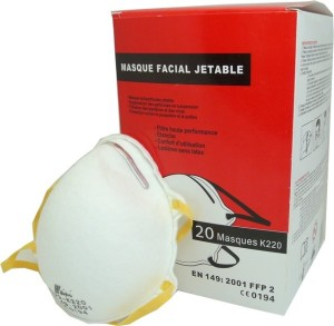 20 masques respiratoires ffp2 protection poussieres et virus trousse pharmacie. Black Bedroom Furniture Sets. Home Design Ideas
