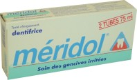 MERIDOL LOT DE 2 TUBES DE 75 ML