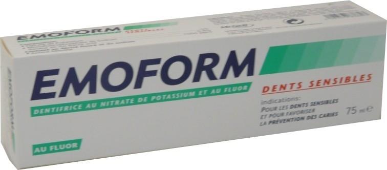 emoform dentifrice dents sensibles 75 ml bouche dents. Black Bedroom Furniture Sets. Home Design Ideas