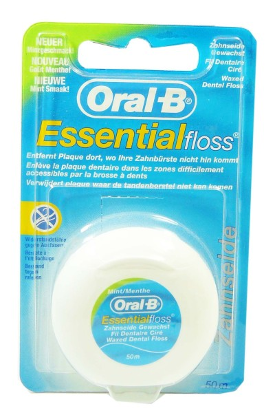 oral b essential floss fil dentaire gout menthe. Black Bedroom Furniture Sets. Home Design Ideas