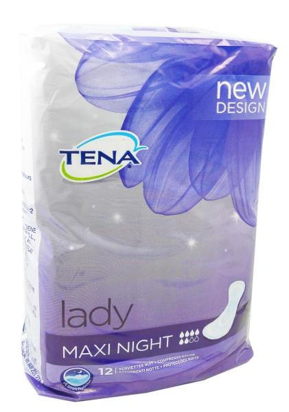 tena lady maxi night x12. Black Bedroom Furniture Sets. Home Design Ideas