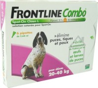 FRONTLINE COMBO 20-40KG 6 PIPETTES