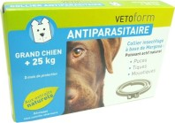 VETOFORM COLLIER GRAND CHIEN ANTIPARASITAIRE +25KG