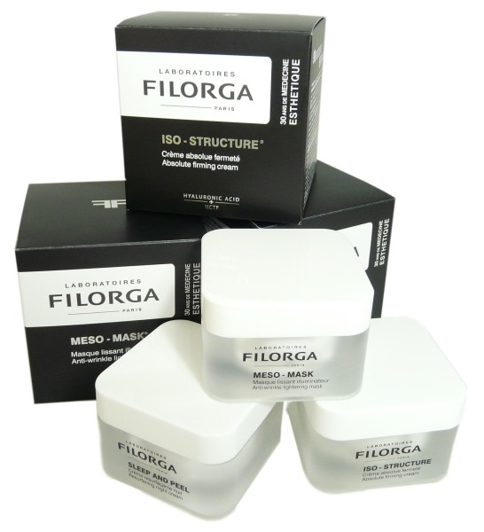 filorga pack promo sleep and peel meso mask et iso structure. Black Bedroom Furniture Sets. Home Design Ideas