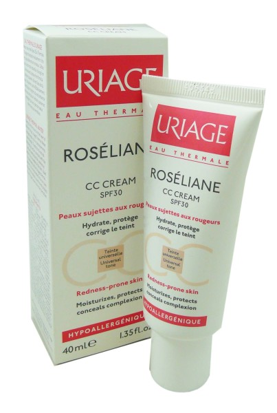 uriage roseliane cc creme spf30 40ml. Black Bedroom Furniture Sets. Home Design Ideas