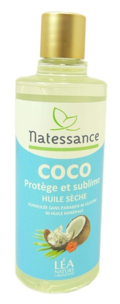 natessance huile seche de coco 100ml. Black Bedroom Furniture Sets. Home Design Ideas