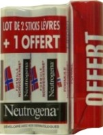 NEUTROGENA STICKS LEVRES LOT DE 2 + 1 OFFERT