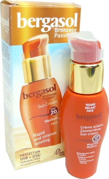 bergasol creme solaire visage 20spf 50ml. Black Bedroom Furniture Sets. Home Design Ideas