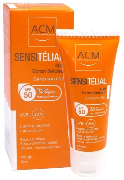 ACM SENSITELIAL GEL ECRAN SOLAIRE VISAGE SPF50 40ML