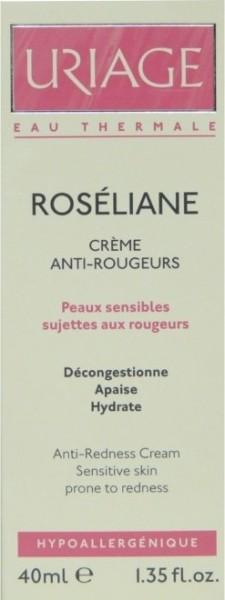 uriage roseliane creme anti rougeurs 40ml. Black Bedroom Furniture Sets. Home Design Ideas